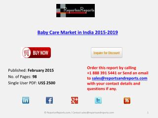 New Report on Baby Care Market in India 2015-2019