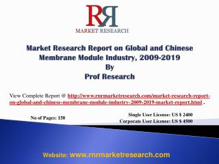 Membrane Module Industry World and China 2019