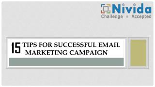 15 Tips for Successful E-Mail Marketing Campaign