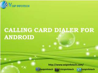 Calling Card Dialer for Android