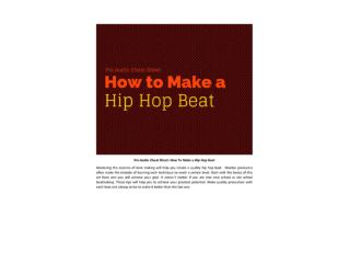 Beat software-Pro Audio Cheat Sheet How To Make Hip-Hop Beat