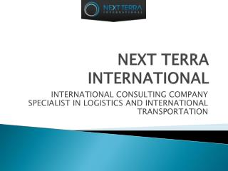 INTERNATIONAL CONSULTING COMPANY SPECIALIST IN LOGISTICS AND