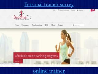 Personal trainer surrey
