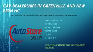 Car Dealerships In Greenville and New Bern NC