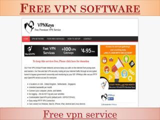Free vpn software