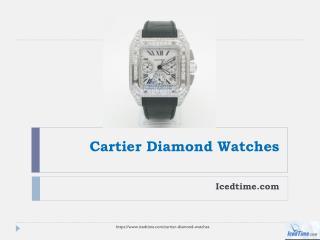 Luxury Cartier Diamond Watches IcedTime