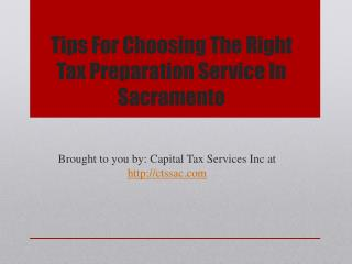 Tips For Choosing The Right Tax Preparation Service