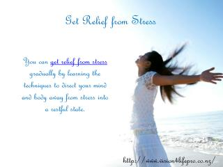 Get Relief from Stress