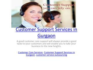 Customer Support Services in Gurgaon