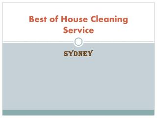 best of house cleaning services