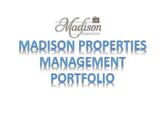 Madison Properties for Real-Estate Management