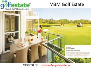 M3M Golf Estate New Housing Project