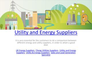Utility and Energy Suppliers