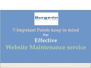 7 Important Tips for Website Maintenance Services