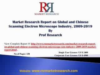 Scanning Electron Microscope Market China 2019