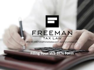 Filing Your W8-BEN Form