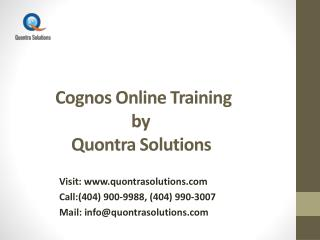 Cognos Overview