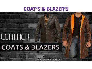 Leather Coats and Blazers