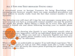 All 5 Tips for Text messages Young girls