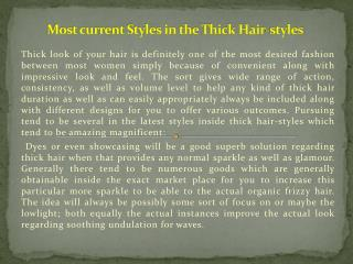 Most current Styles in the Thick Hair-styles.pptx