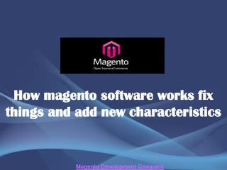 How magento software works fix things and add new characteri