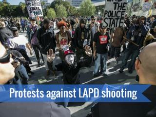Protests against LAPD shooting