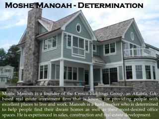 Moshe Manoah - Determination