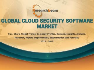 Global Cloud Security Software Market Size, Share, Trends