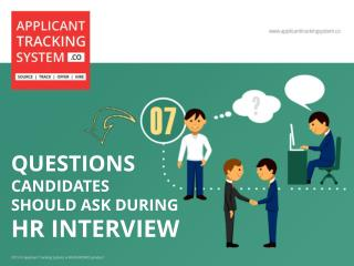 7 Questions Candidates should ask during HR Interview