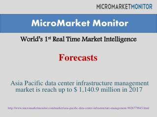 Asia Pacific data center infrastructure management market is