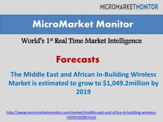 Middle East and African In-Building Wireless Market