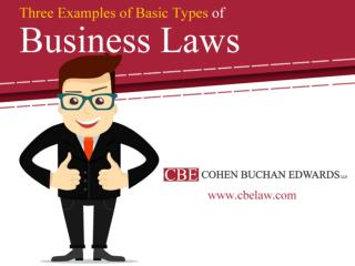 Three Examples of Basic Types of Business Laws