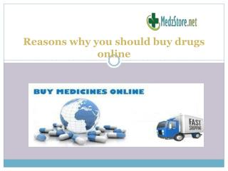 Reasons why you should buy drugs online