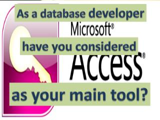 Why we need to use MS Access?