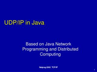 UDP/IP in Java
