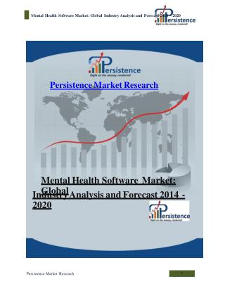 Mental Health Software Market: Global Industry Analysis and