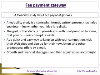 Know more about fee payment gateway