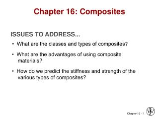 Chapter 16: Composites