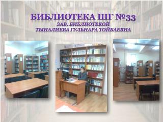 Библиотека ШГ №33