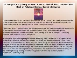 Dr. Terrlyn L. Curry Avery Inspires Others to Live