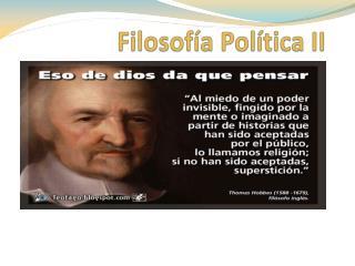 Filosofía Politica: HOBBES