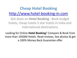 Cheap hotel booking
