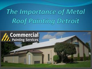The Importance of Metal Roof Painting Detroit