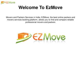 Movers and Packers Services : EzMOve