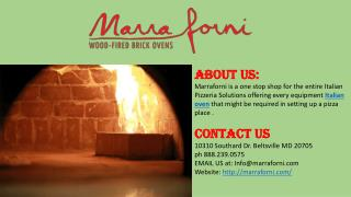 Residential wood burning Brick pizza oven