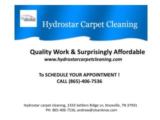 Carpet Steam Cleaners Knoxville