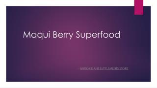 Maqui Berry – Natural Detox