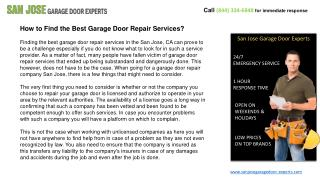 How to Find the Best Garage Door Repair Services?