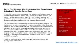 Saving Your Money on Affordable Garage Door Repair Service S