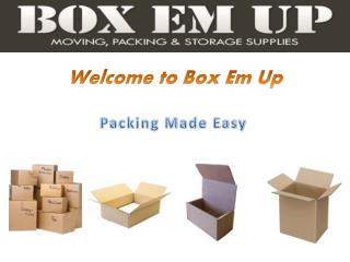 Packing Boxes for Sale Brisbane